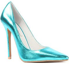 shopstyle.com: Jeffrey Campbell The Darling Shoe in Metallic Teal (Exclusive)