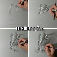 Marcello Barenghi: An Absinthe glass - four drawing stages