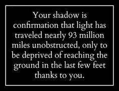 Your shadow is...