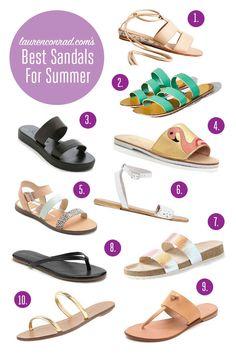 Style Guide: The Best Sandals For Summer Strappy Sandals, Flat Sandals, Leather Sandals, Shoes Sandals, Keds Shoes, Sock Shoes, Shoe Boots, Summer Flats, Birkenstocks