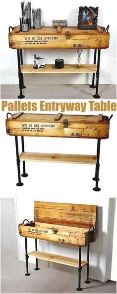 I have gathered a big collection of #DIY #pallet ideas for projects that are easy to make.