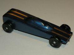 Blue Wedge Pinewood Derby Car
