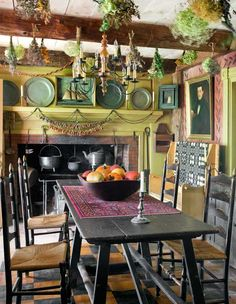 A colorful Maine tavern room.