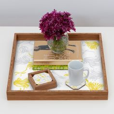 Vy La Bright Breezy Tulips Coaster Set | DENY Designs Home Accessories