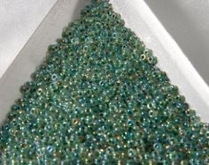 REDUCED! 20 Grams Size 11/0 Miyuki Japanese Glass Seed Beads Lined Lime AB
