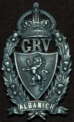 """GALLOWAY RIFLE VOLUNTEERS OFFICERS HEADDRESS BADGE -A beautiful fully fretted example of an officers badge to this unit who later became part of the K.O.S.B. .Scarcer Kings Crown ,maker marked """"B"""" .Silver hallmarks for Birmingham."""