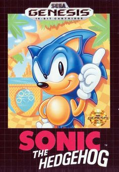 The original Sonic the Hedgehog game for the Sega Genesis. Arguably the best Sega Genesis game ever released. Sonic The Hedgehog Juegos, Hedgehog Game, Sonic Hedgehog, Classic Video Games, Retro Video Games, Retro Games, Vintage Games, Vintage Toys, Game Boy