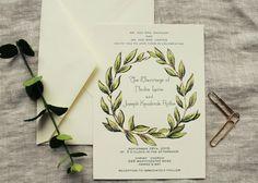 Hey, I found this really awesome Etsy listing at https://www.etsy.com/listing/237891456/olive-leaf-wreath-wedding-invitation