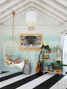 Just like men enjoy their man caves, ladies should have a she shed as a secluded space to recharge from daily demands. These she shed ideas are inspiring! shed design shed diy shed ideas shed organization shed plans She Shed Interior Ideas, She Shed Decorating Ideas, Interior Decorating, Home Design, Shed Design, Shed Building Plans, Shed Plans, Building Ideas, Building Design