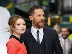 Tommy & Emily Browning at the Legend World Premiere at Odeon Leicester Square (London, England) - September 3, 2015 / TH0139C