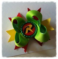 Robin superhero boutique bow/ DC comic boutique bow