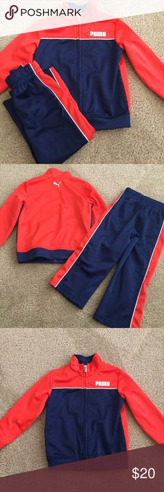 Puma outfit Blue, orange, and white Puma outfit. Size 3t. Never worn Puma Other