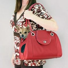 Small Open TOTE handbag Purse style Pet Dog Cat Bag -small breed /puppy Carrier