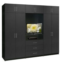 Aventa TV Wall Unit for Bedrooms - Free Standing Bedroom Wardrobe ...