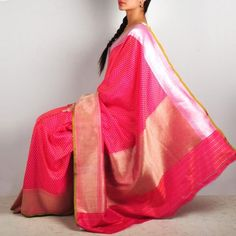 Pink Banaras Silk saree