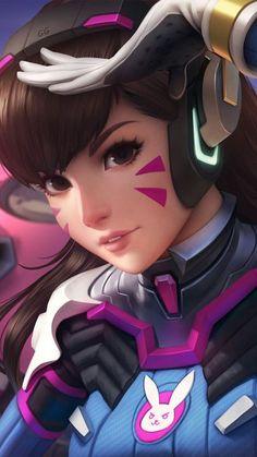 Overwatch Tracer, Overwatch Drawings, Video Game Characters, Female Characters, Anime Characters, Anime Neko, Kawaii Anime, Overwatch Wallpapers, Digital Art Girl