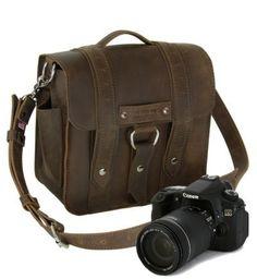 """10"""" Brown Napa Safari Camera Bag"""