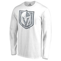 e3a9104b5 Men s Fanatics Branded White Vegas Golden Knights Logo White Out Long  Sleeve T-Shirt Vegas