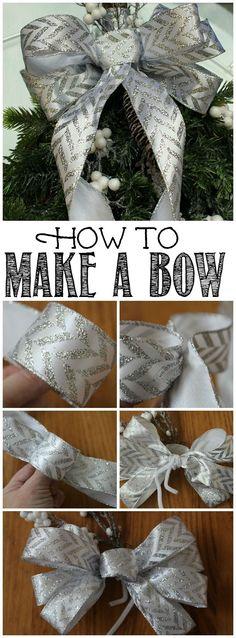 diy christmas swag wreath - How To Make A Christmas Bow For A Wreath