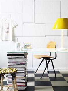 Mesa con patas de revistas en iManualidades.com: manualidades y bricolage