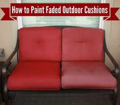 Learn How To Freshen Up (Paint) Your Outdoor Cushions