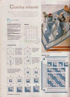 Revistas de manualidades Gratis: Como hacer colcha en patchwork