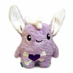 Kawaii Plush Monster Hase Emo purple Handarbeit Unikat