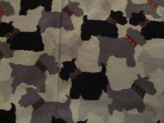 Vintage Fabric 2003 Mary Engelbreit Quilting Treasures Scotty Dog fabric 18 x41 #QuiltingTreasures