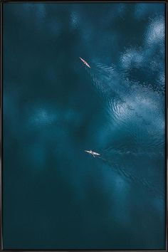 Ocean 2 Poster in houten lijst Framing Photography, Aerial Photography, The Art Of Flight, Image Nature, Art Mural, Birds Eye View, Aerial View, Scenery, Images