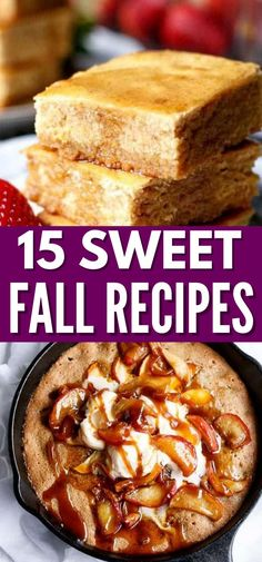 Check out these 15 Sweet Fall Recipes to Try Out. Each of these recipes scream fall with every single bite. Sweet fall inspired recipes for you to make for your family, friends, potlucks and more. #fall #sweet #desserts #recipes #warmspices Easy Baking Recipes, Quick Dinner Recipes, Fall Recipes, Holiday Recipes, Great Recipes, Snack Recipes, Dessert Recipes, Favorite Recipes, Sweet Desserts