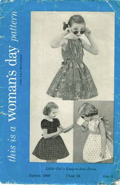 db6cbbdb60080 Woman's Day Pattern 5068 An Original Vintage Sewing Pattern Toddler Girl's  Sun Dress Pattern Easy to Make Design From the Late Complete Nice Condition  5 of ...