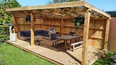 Gartenhaus Designs # Designs # garden shed design # garden ., Gartenhaus Designs # Designs shed design diy shed throw ideas While ancient inside notion, your pergola has become enduring a modern day rebirth most of these days. Backyard Pavilion, Backyard Patio Designs, Pergola Designs, Shed Patio Ideas, Backyard Cabana, Gazebo Ideas, Painted Garden Sheds, Shed Conversion Ideas, Pergola Diy