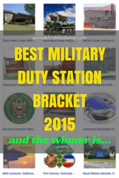 Best Military Duty Station 2015, I'm not at all surprised at who won... #OperationInTouch #spon