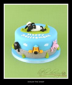 Shaun the Sheep Cake - Cake by Little Cherry