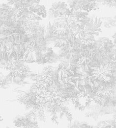Toile De Jouy Wallpaper by Borastapeter | Jane Clayton