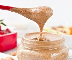 Maple Cinnamon Almond Butter with Hemp, Flax, and Chia Seed — Oh She Glows - use cashew butter and add protein