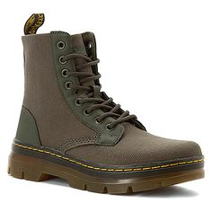Dr. Martens Combs Fold Down Boot Olive Extra Tough Nylon/Rubbery