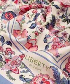 Liberty London Liberty London Cream Tree of Life Silk Scarf