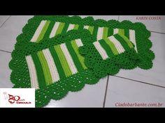 Crochet Table Mat, Crochet Designs, Kids Rugs, Blog, Maria Elisa, Crafts, Youtube, Green Carpet, Crochet Carpet