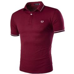 Casual Basic Polo Collar Striped T-Shirt Men's Fashion, Fashion Outfits, Purple T Shirts, Purple Tops, Stylish Mens Outfits, Camisa Polo, Men Dress, Menswear, Casual