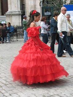 Making her debut a la Havana, Cuba
