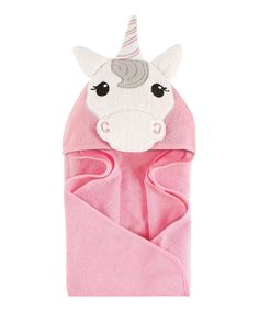Hudson Baby girl unicorn hooded towel