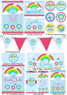 Rainbow Party Printables Free