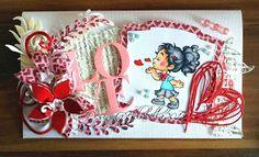 Love card Wiff of joy WOJ Tim Holtz