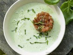 Rezept: Kalte Basilikum-Dickmilch-Suppe - ich vermisse Dickmilch in America...