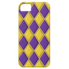 Harlequin Purple Gold Diamonds iPhone 5 Case by Graphic Allusions $44.95 #iphone5