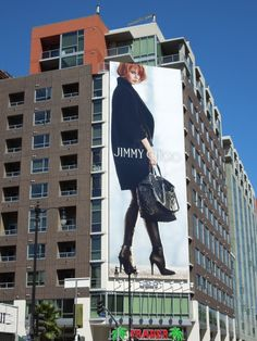 As if these high fashion billboards weren't striking enough, designer shoe, handbag and accessories brand Jimmy Choo has added a dash of .
