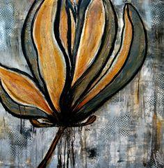 magnolia bloem  van Femke van der Tak (fem-paintings)       schilderij is te koop bij werk aan de muur in de afmeting en op het materiaal naar keuze. Magnolia, Canvas, Prints, Van, Paintings, Tela, Paint, Magnolias, Vans
