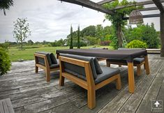 Low Dining tuinset van Piet Boon in Oostvoorne - Diy Outdoor Furniture, Garden Furniture, Dining Set, Dining Bench, Outdoor Dining, Outdoor Decor, Garden Planning, Design, Home Decor