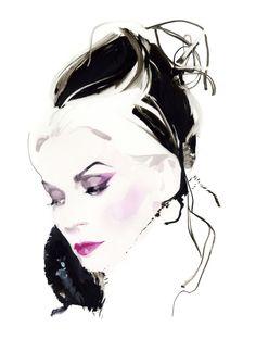 다프네 기네스 by David Downton